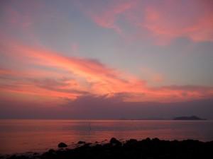 Bonito cielo al amanecer