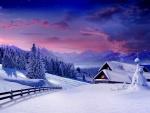 Atardecer nevado