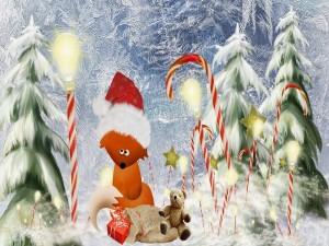 Emocionante escena navideña