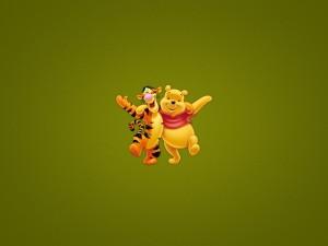 Postal: Winnie the Pooh y su amigo Tiger