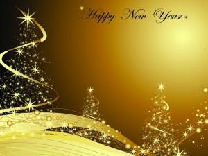 Postal: Mensaje para Año Nuevo