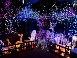 Bonita decoración de Navidad iluminada