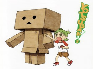 """Danbo y Yotsuba Koiwai en el comic """"Yotsuba to!"""""""