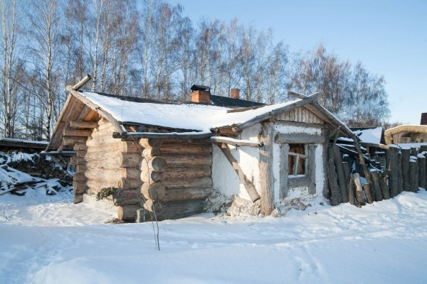 Paisaje rural durante el invierno