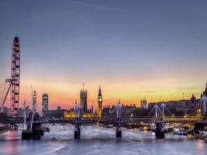 Espectacular tarde en la ciudad de Londres