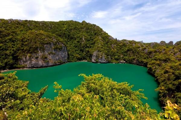 Lago Esmeralda en Tailandia