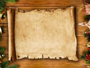 Pergamino para enviar en Navidad y Año Nuevo