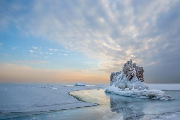 Reflexión sobre hielo