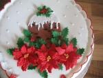 Tarta con flores de Navidad