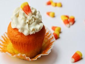 Cupcake de caramelos de maíz
