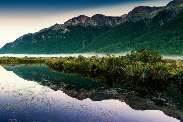 Lago de los Espejos, Nueva Zelanda