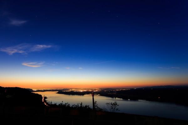 Puesta de sol sobre Portland