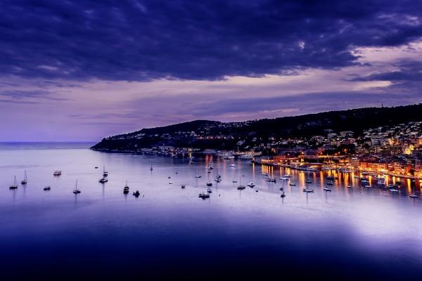Crepúsculo sobre la Costa Azul (Villefranche, Francia)