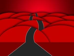Postal: Carretera sorteando los obstáculos