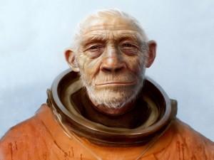Hombre con traje de astronauta