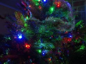 Árbol de Navidad el día de Nochebuena