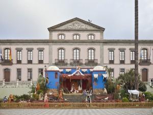 Natividad en la Plaza del Ayuntamiento de La Orotava (Tenerife, España)