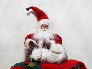 Tierna figura de Papá Noel para decorar en Navidad