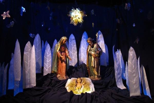 Escena de la Natividad en la Catedral Metropolitana de Buenos Aires (Argentina)