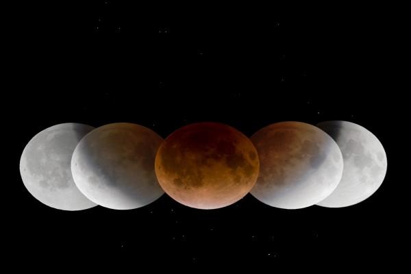 La sombra de la Tierra proyectada en la Luna
