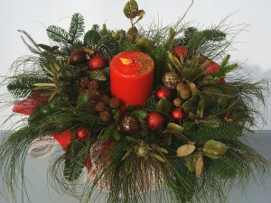 Magnífico centro de mesa para Navidad y Año Nuevo