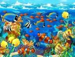 Imagen de un mágico y extraordinario mundo submarino
