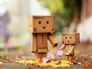 Postal: Danbos observando el otoño