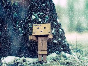 Nieva sobre Danbo
