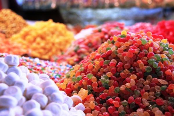 Montañas de caramelos