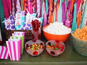 Caramelos y palomitas