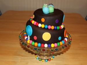 Postal: Una bonita tarta de dos pisos