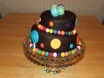 Una bonita tarta de dos pisos