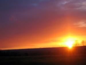 El brillo del sol al atardecer