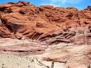 Rocas rojas en el desierto de Mojave, Nevada