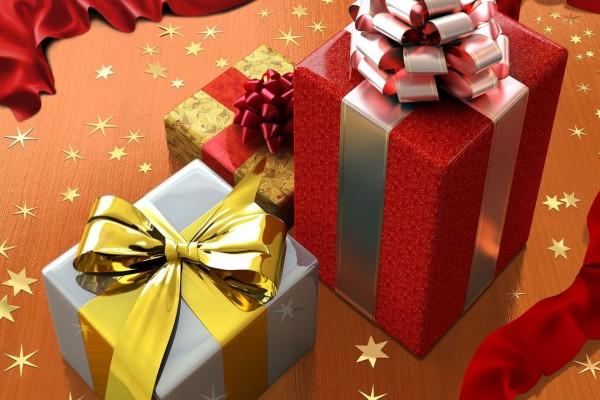 Cajas con bellos moños para la Navidad