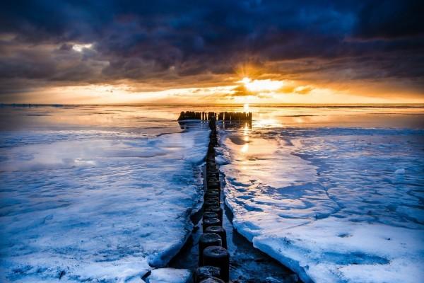 Un maravilloso lago congelado