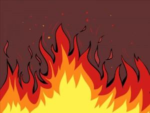 Grandes llamas de fuego