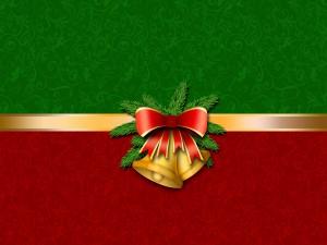 Campanas en un adorno de Navidad