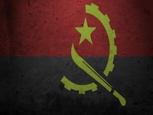Postal: Bandera de Angola