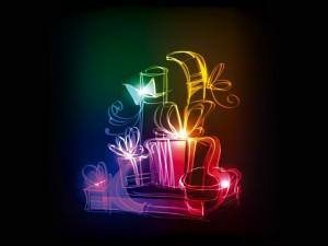 Regalos navideños luminosos