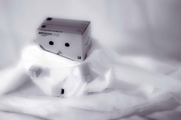 Danbo cubierto de finas láminas de papel