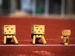 Postal: Danbos en una pista de atletismo