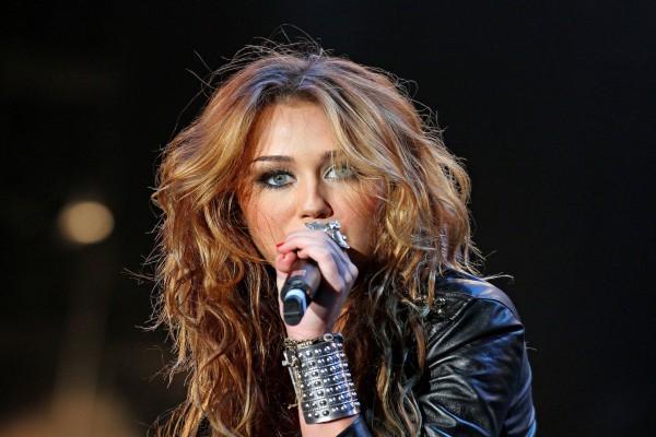 La cantante Miley Cyrus en un concierto