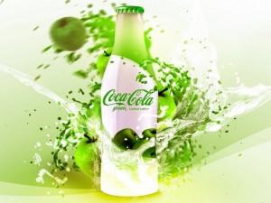 Postal: Coca Cola de manzana