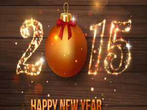 """Postal: Recibimos felices el """"Año Nuevo 2015"""""""