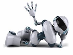 Postal: Un cómodo robot saludando