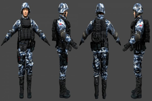 Soldados chinos en Battlefield 4