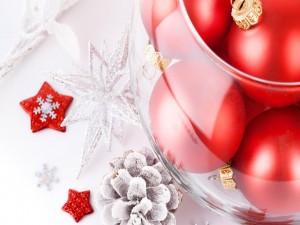Postal: Adornos para la Navidad