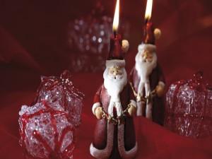 Dos velas de Santa Claus