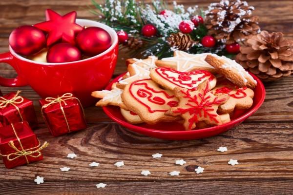 Adornos y galletas para Navidad